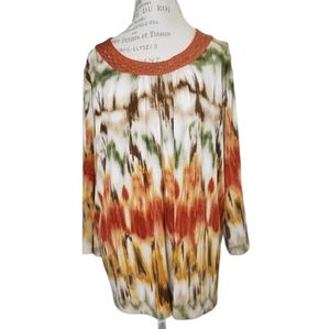 ALFRED DUNNER PLUS SIZE BLOUSE